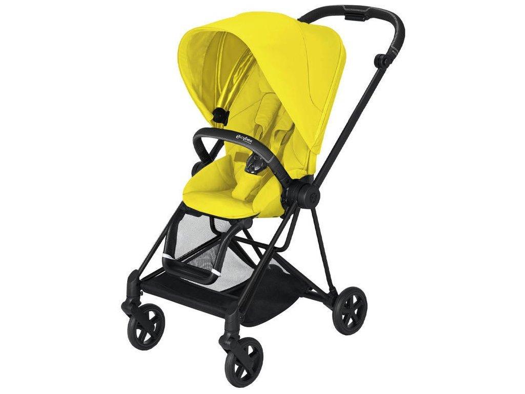 Kočárek CYBEX Mios Matt Black Seat Pack 2021 - Mustard Yellow