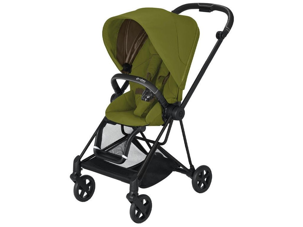 Kočárek CYBEX Mios Matt Black Seat Pack 2021 - Khaki Green