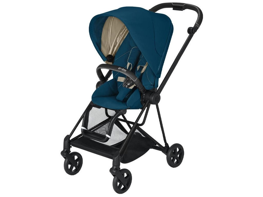 Kočárek CYBEX Mios Matt Black Seat Pack 2021 - Mountain Blue