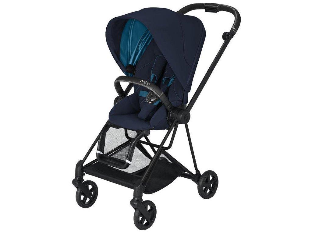 Kočárek CYBEX Mios Matt Black Seat Pack 2021 - Nautical Blue