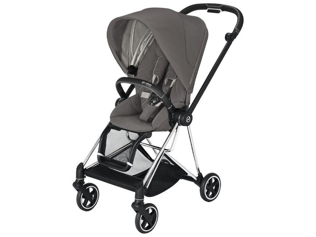 Kočárek CYBEX Mios Chrome Black Seat Pack 2021 - Soho Grey
