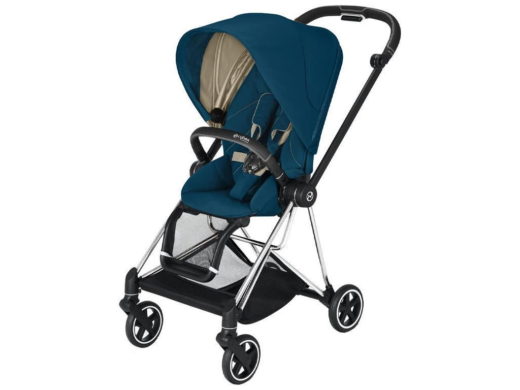 Kočárek CYBEX Mios Chrome Black Seat Pack 2021 - Mountain Blue