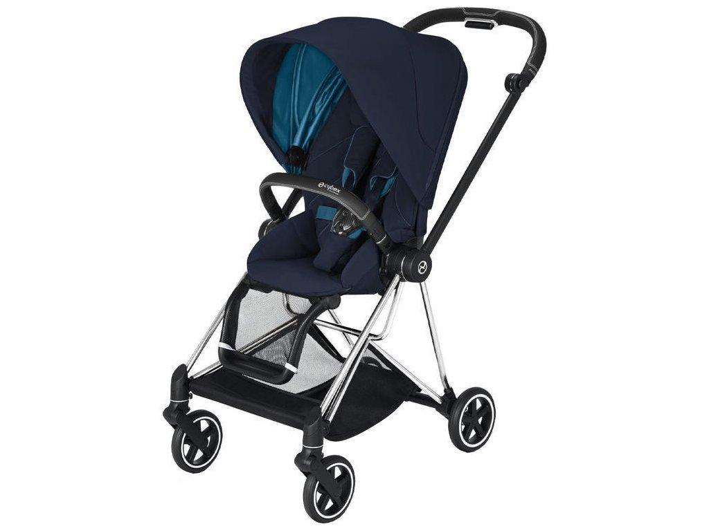 Kočárek CYBEX Mios Chrome Black Seat Pack 2021 - Nautical Blue