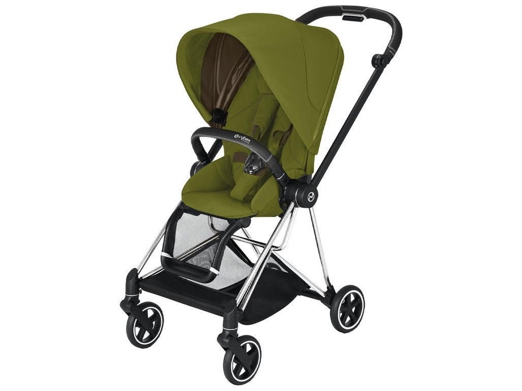 Kočárek CYBEX Mios Chrome Black Seat Pack 2021 - Khaki Green