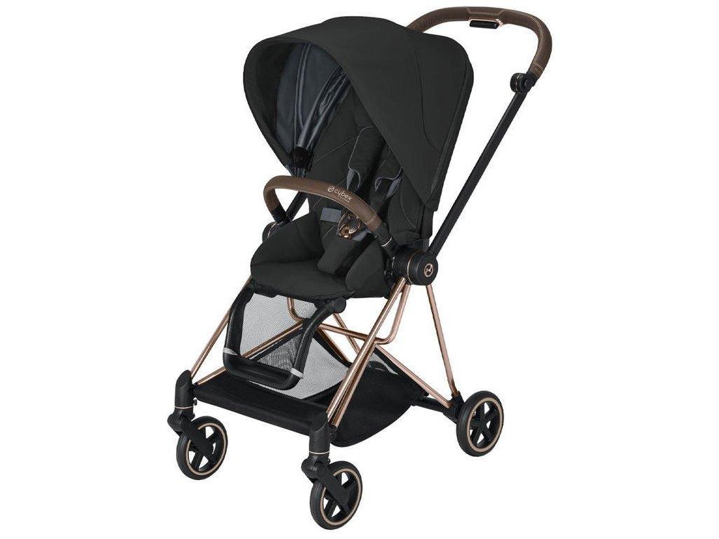Kočárek CYBEX Mios Rosegold Seat Pack 2021 - Deep Black