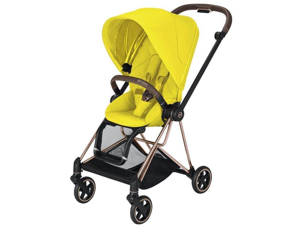 Kočárek CYBEX Mios Rosegold Seat Pack 2021 - Mustard Yellow