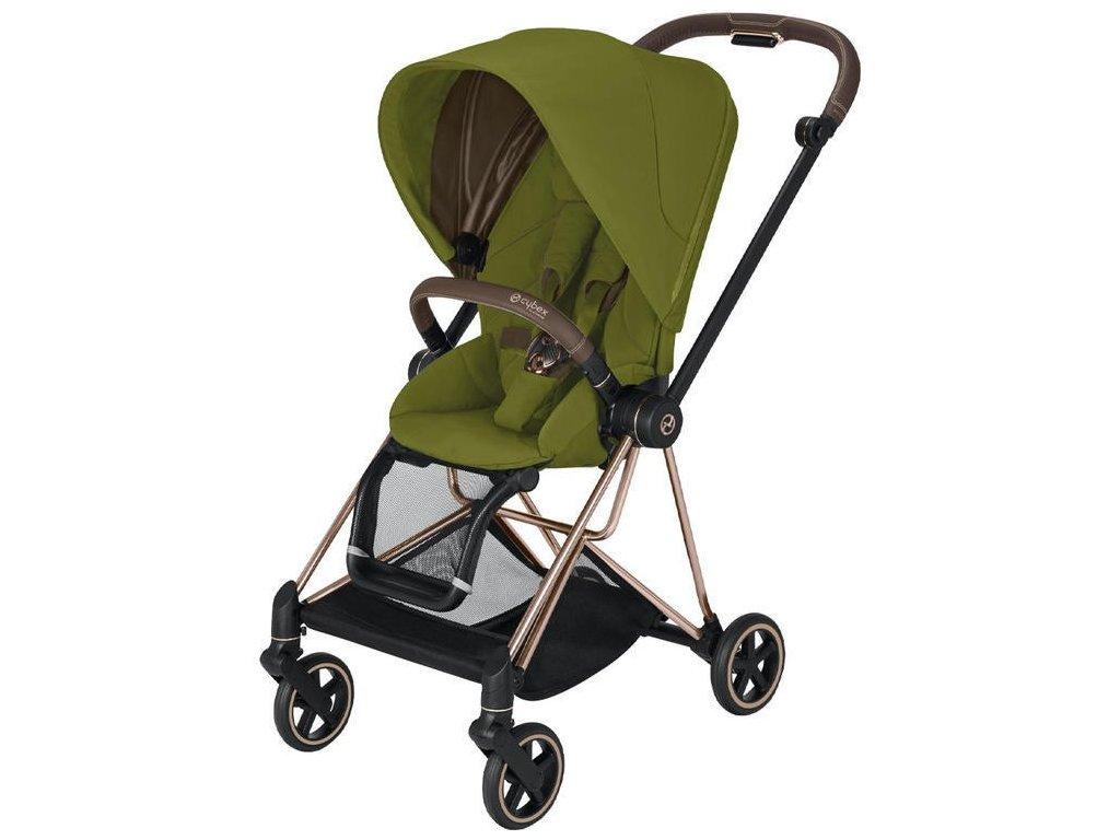 Kočárek CYBEX Mios Rosegold Seat Pack 2021 - Khaki Green