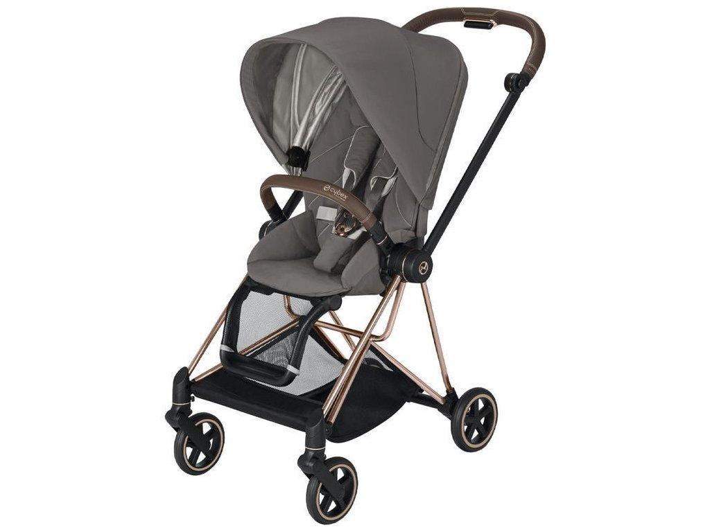 Kočárek CYBEX Mios Rosegold Seat Pack 2021 - Soho Grey