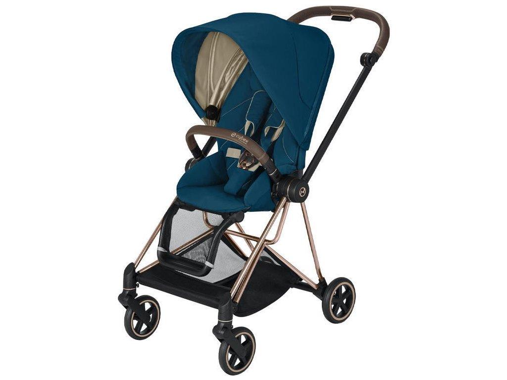 Kočárek CYBEX Mios Rosegold Seat Pack 2021 - Mountain Blue