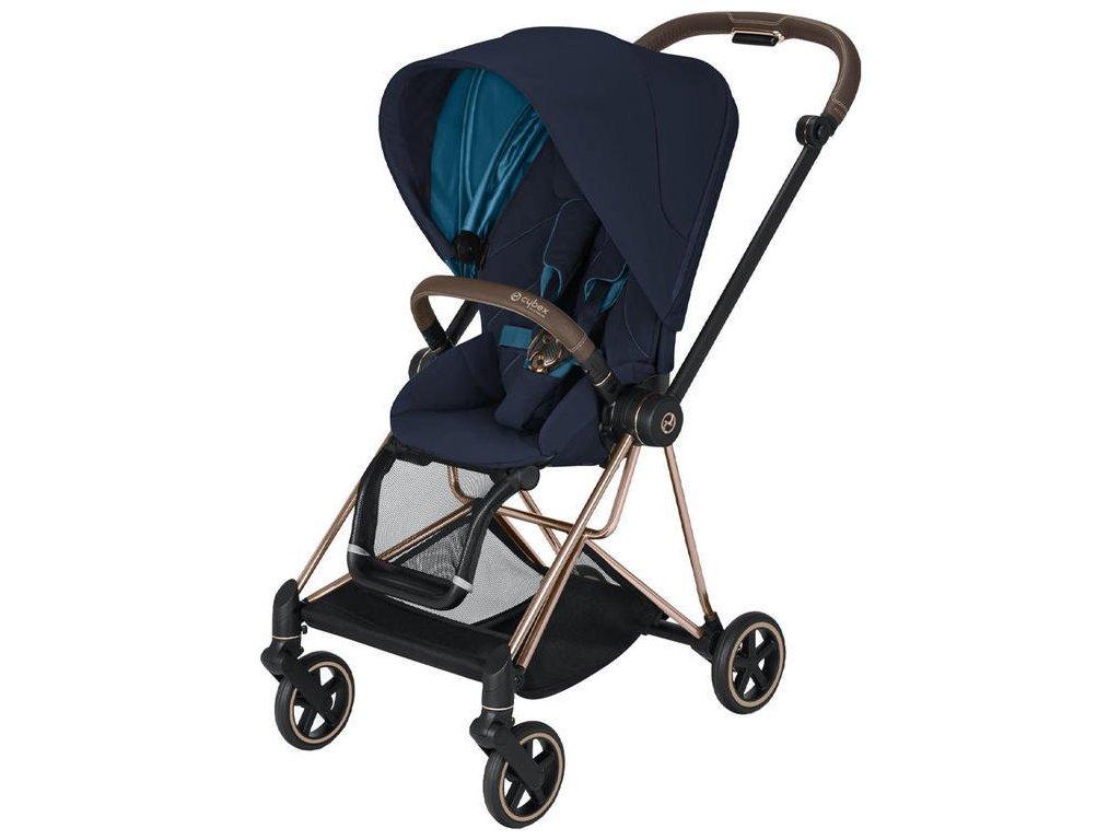 Kočárek CYBEX Mios Rosegold Seat Pack 2021 - Nautical Blue