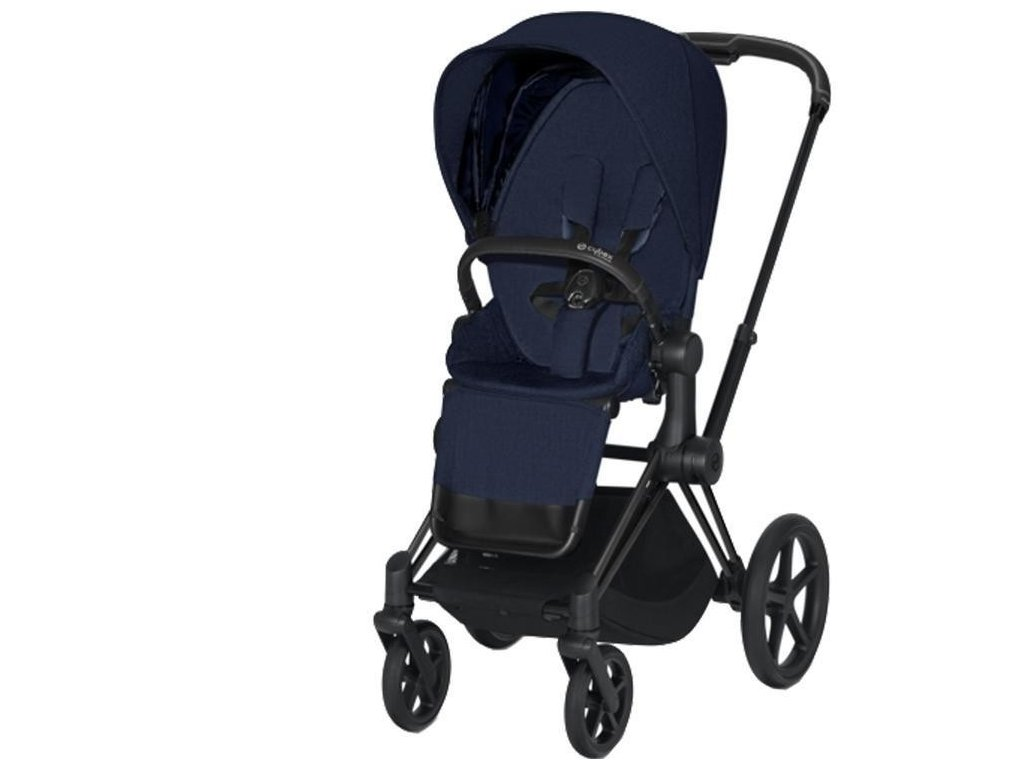 Kočárek CYBEX Priam Matt Black Seat Pack PLUS 2021 - Midnight Blue