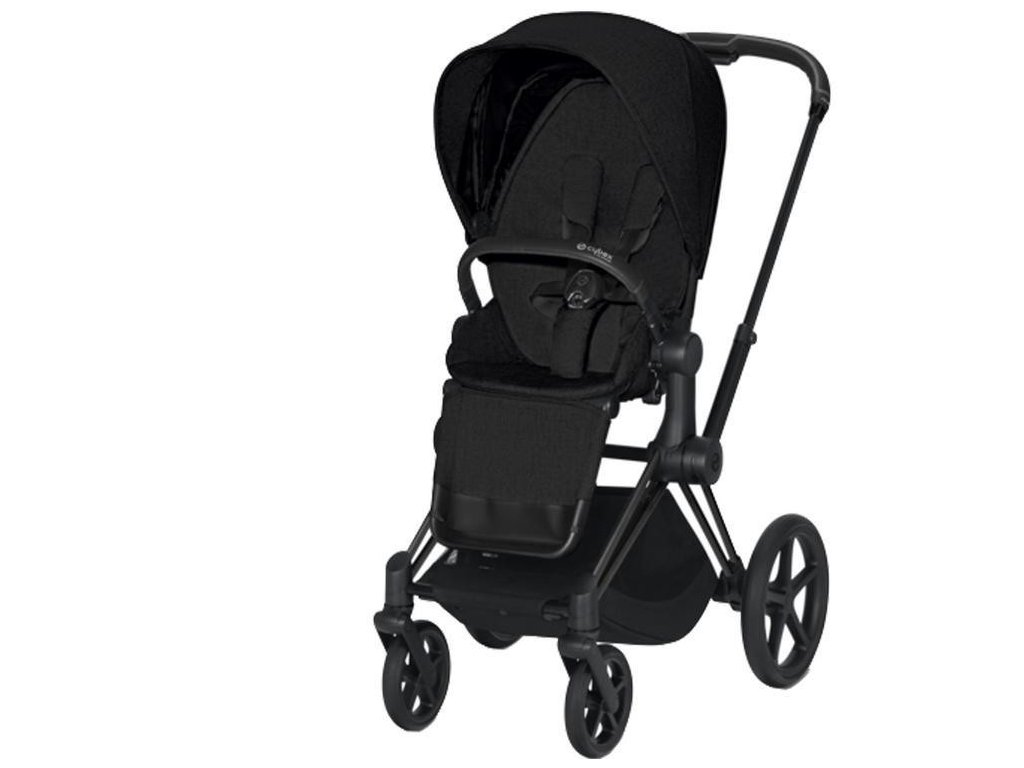 Kočárek CYBEX Priam Matt Black Seat Pack PLUS 2021 - Stardust Black