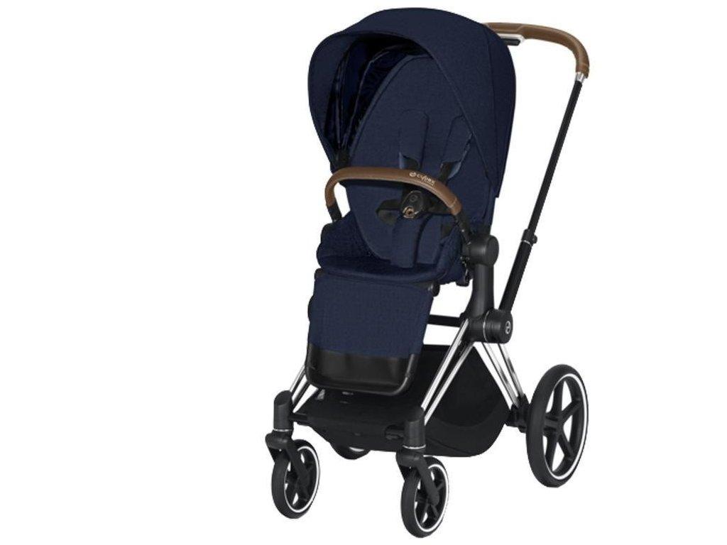 Kočárek CYBEX Priam Chrome Brown Seat Pack PLUS 2021 - Midnight Blue