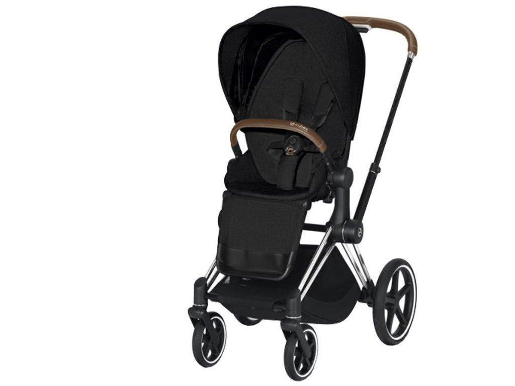 Kočárek CYBEX Priam Chrome Brown Seat Pack PLUS 2021 - Stardust Black