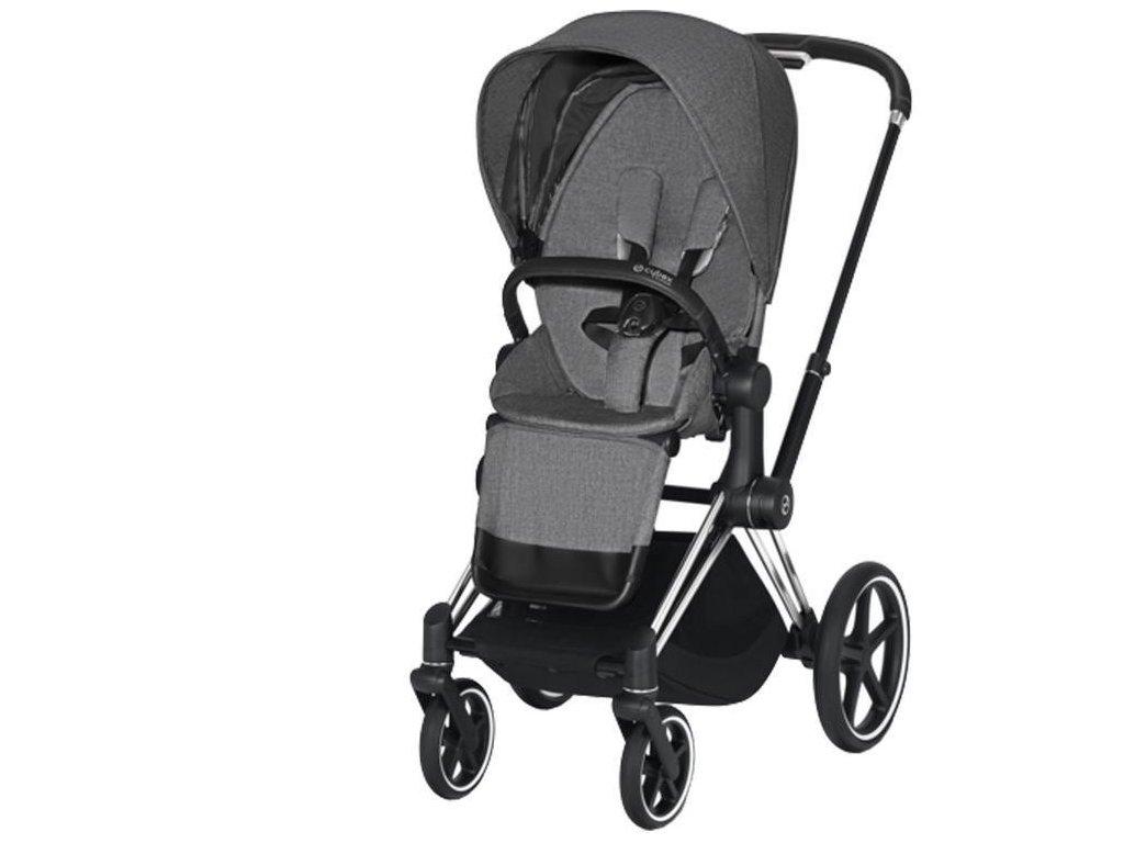 Kočárek CYBEX Priam Chrome Black Seat Pack PLUS 2021 - Manhattan Grey