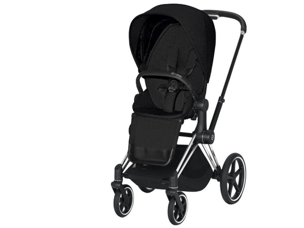 Kočárek CYBEX Priam Chrome Black Seat Pack PLUS 2021 - Stardust Black