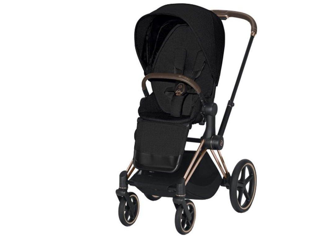 Kočárek CYBEX Priam Rosegold Seat Pack PLUS 2021 - Stardust Black