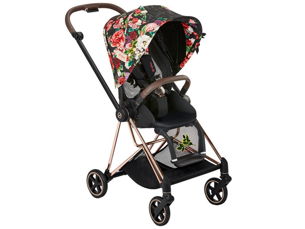 Kočárek CYBEX Mios Fashion Spring Blossom 2021, podvozek mios rosegold - Dark