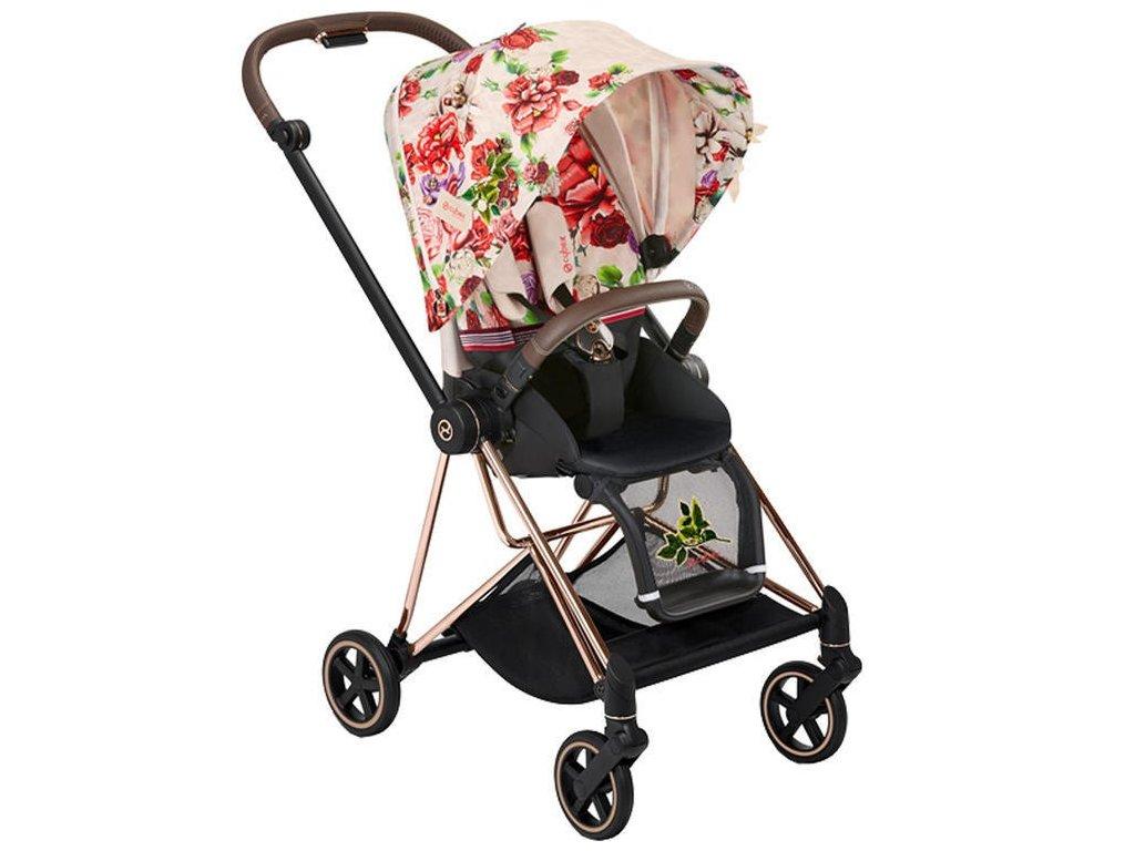 Kočárek CYBEX Mios Fashion Spring Blossom 2021, podvozek mios rosegold - Light