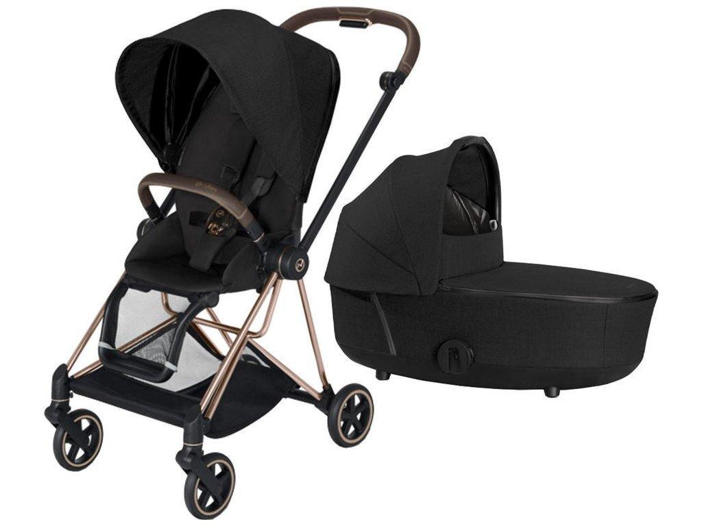 Kočárek CYBEX Mios Rosegold Seat Pack PLUS 2021 včetně korby - Stardust Black