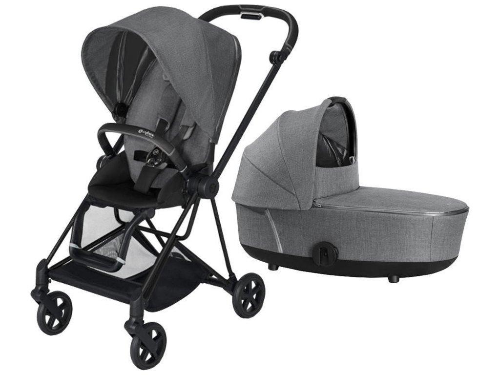Kočárek CYBEX Mios Matt Black Seat Pack PLUS 2021 včetně korby - Manhattan Grey
