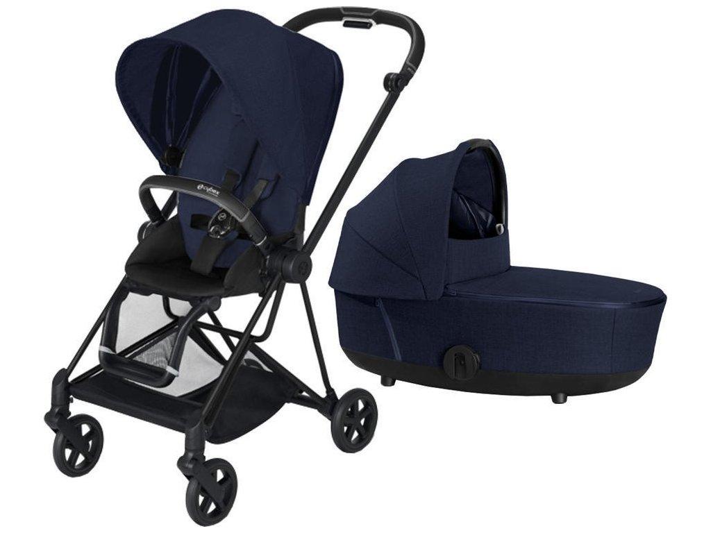 Kočárek CYBEX Mios Matt Black Seat Pack PLUS 2021 včetně korby - Midnight Blue
