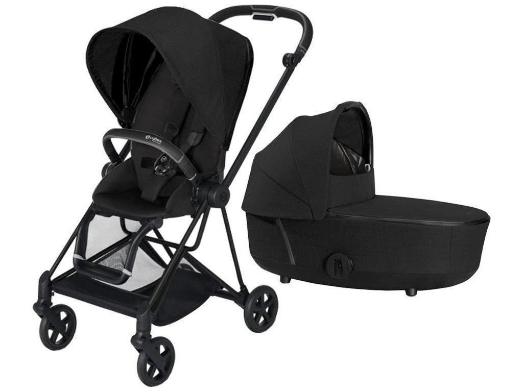 Kočárek CYBEX Mios Matt Black Seat Pack PLUS 2021 včetně korby - Stardust Black