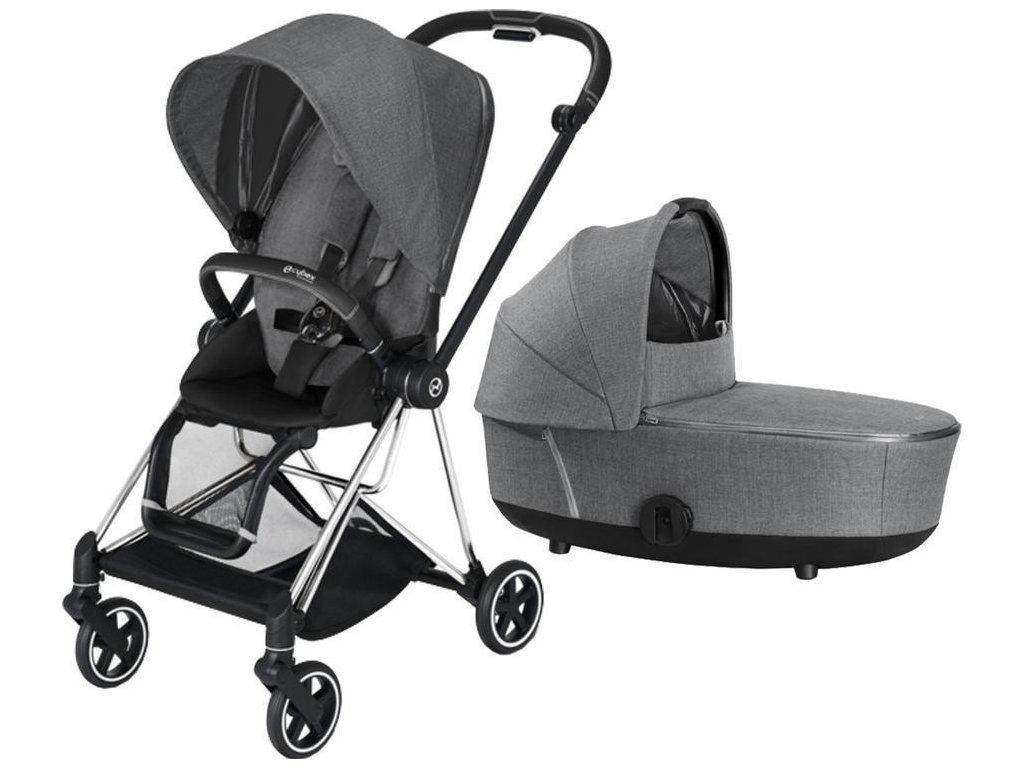 Kočárek CYBEX Mios Chrome Black Seat Pack PLUS 2021 včetně korby - Manhattan Grey