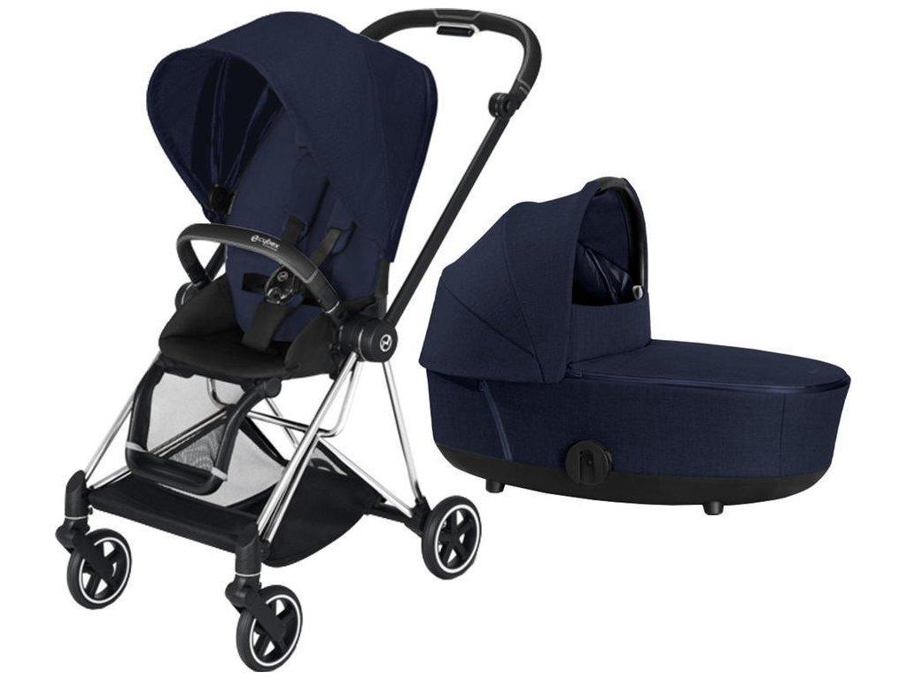 Kočárek CYBEX Mios Chrome Black Seat Pack PLUS 2021 včetně korby - Midnight Blue