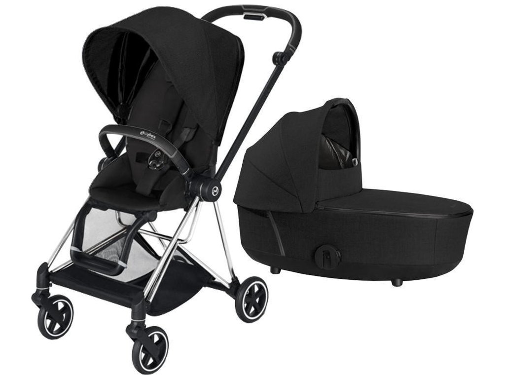 Kočárek CYBEX Mios Chrome Black Seat Pack PLUS 2021 včetně korby - Stardust Black