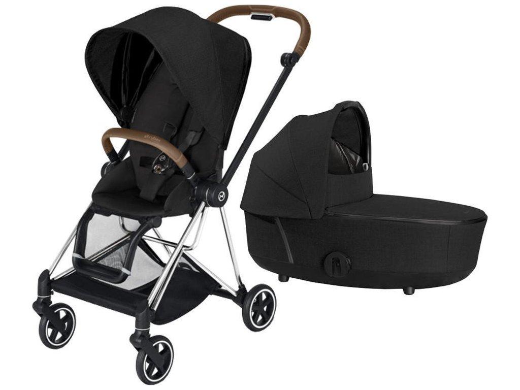 Kočárek CYBEX Mios Chrome Brown Seat Pack PLUS 2021 včetně korby - Stardust Black