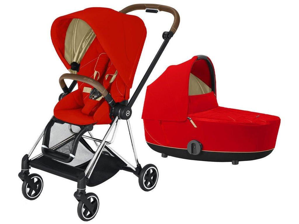 Kočárek CYBEX Mios Chrome Brown Seat Pack 2021 včetně korby - Autumn Gold
