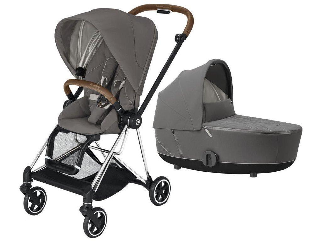 Kočárek CYBEX Mios Chrome Brown Seat Pack 2021 včetně korby - Soho Grey