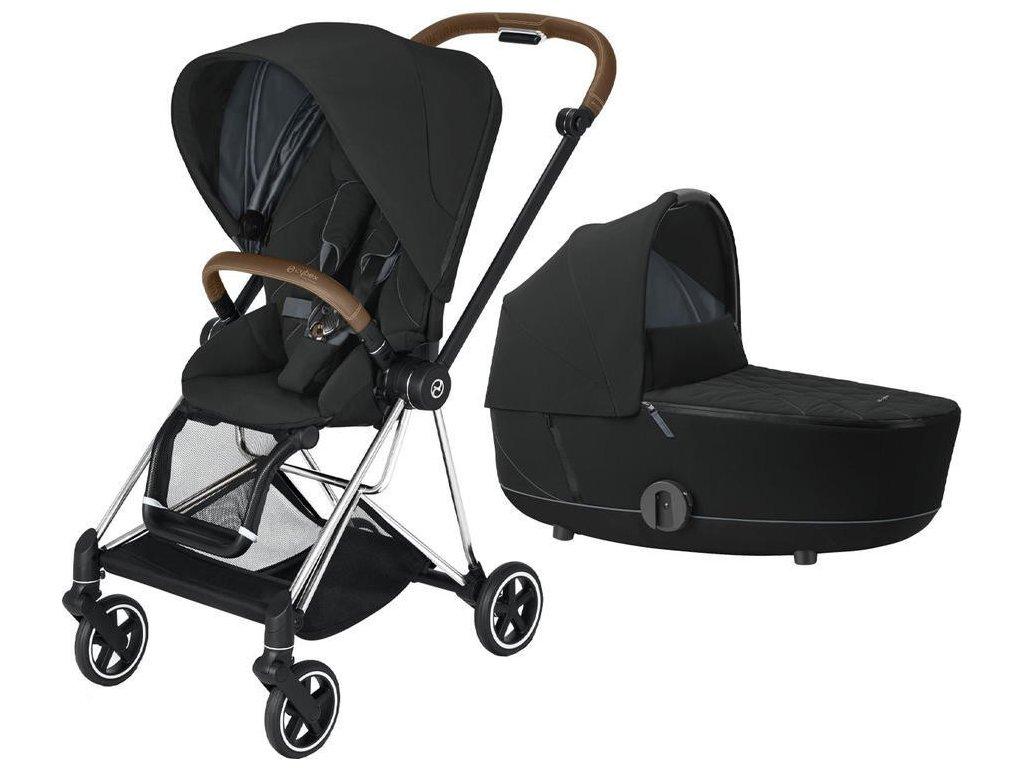 Kočárek CYBEX Mios Chrome Brown Seat Pack 2021 včetně korby - Deep Black
