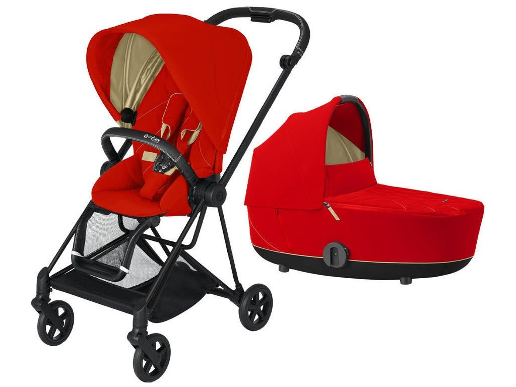 Kočárek CYBEX Mios Rosegold Seat Pack 2021 včetně korby - Autumn Gold