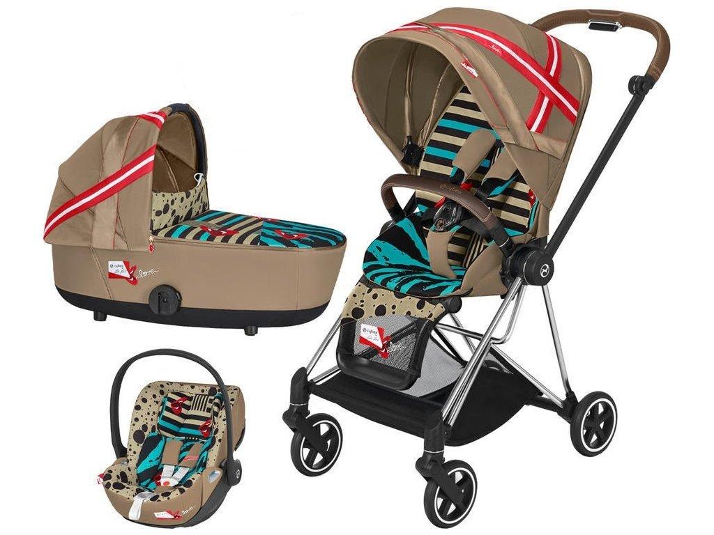 Kočárek CYBEX by Karolina Kurkova Set Mios Seat Pack 2021 včetně autosedačky - Chrome Brown