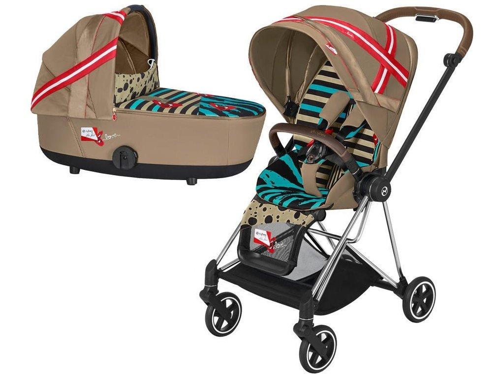 Kočárek CYBEX by Karolina Kurkova Mios Seat Pack 2021 včetně korby - Chrome Brown