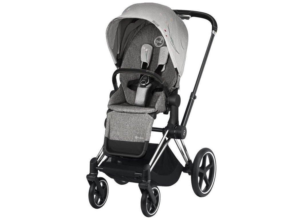 Kočárek CYBEX Priam Lux Seat Fashion Koi 2020, podvozek Priam - Chrome Black