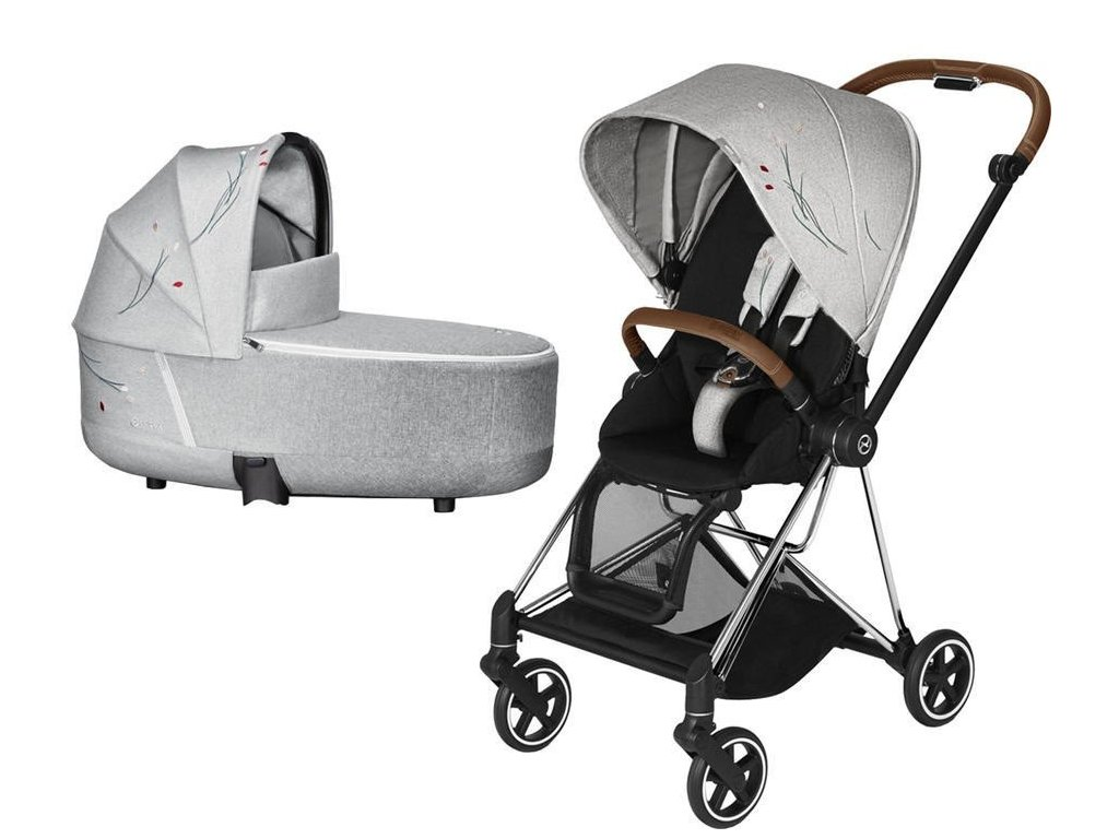 Kočárek CYBEX Mios Seat Pack Fashion Koi 2020 včetně korby, podvozek Mios - Chrome Brown
