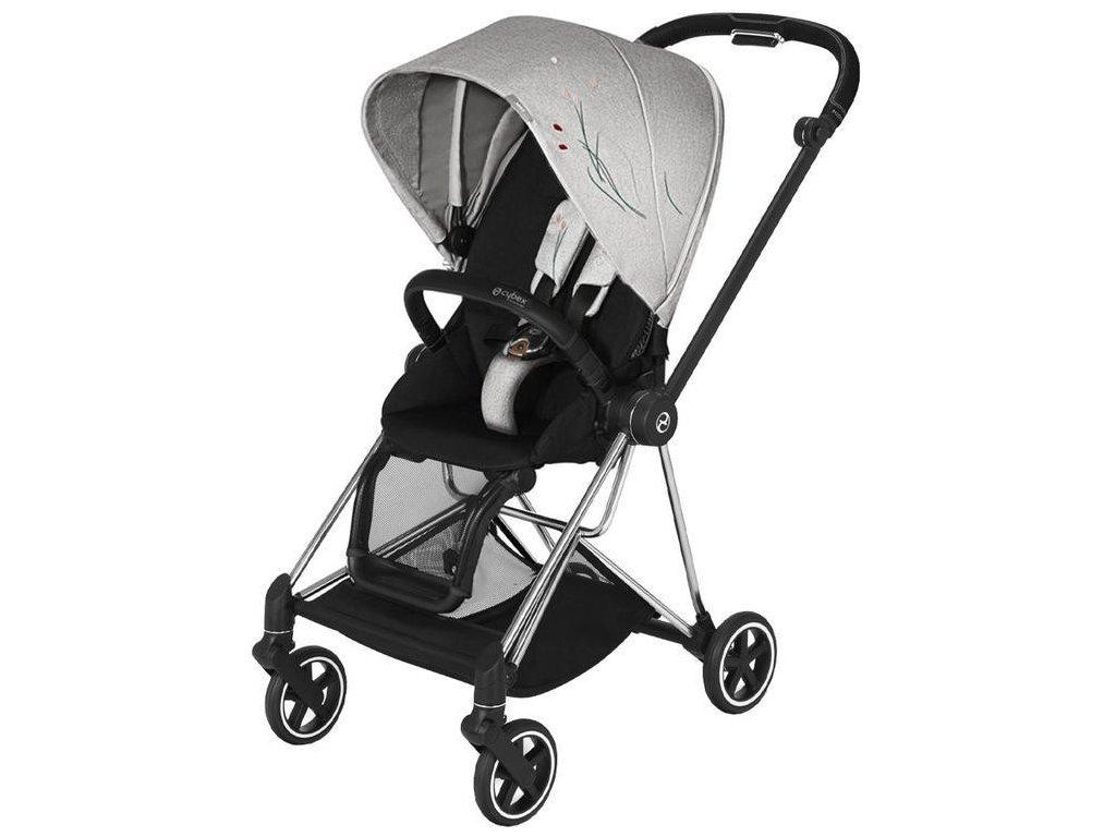 Kočárek CYBEX Mios Seat Pack Fashion Koi 2020, podvozek Mios - Chrome Black