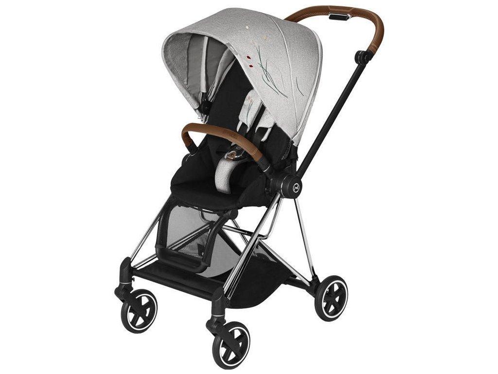 Kočárek CYBEX Mios Seat Pack Fashion Koi 2020, podvozek Mios - Chrome Brown