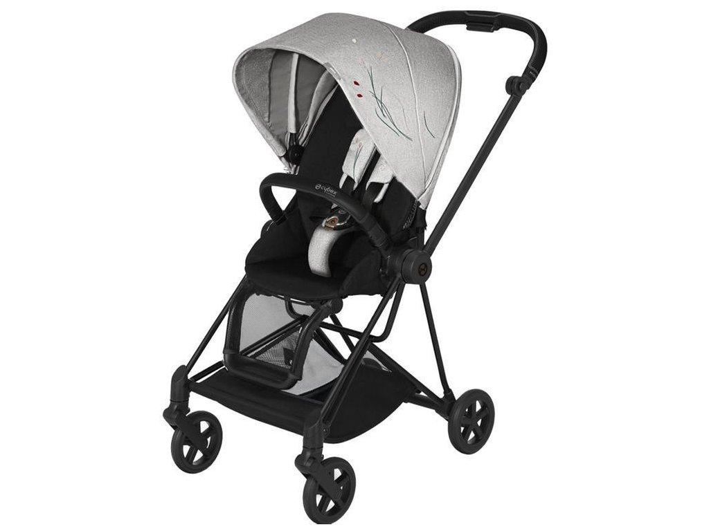 Kočárek CYBEX Mios Seat Pack Fashion Koi 2020, podvozek Mios - Matt Black