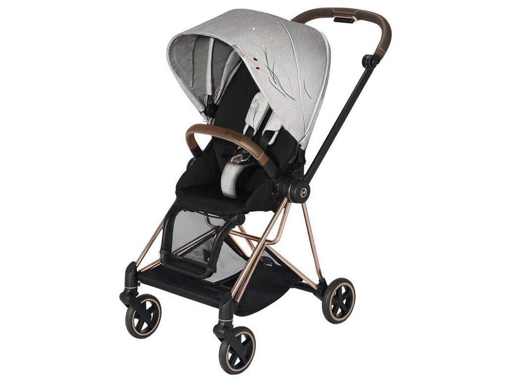 Kočárek CYBEX Mios Seat Pack Fashion Koi 2020, podvozek Mios - Rosegold