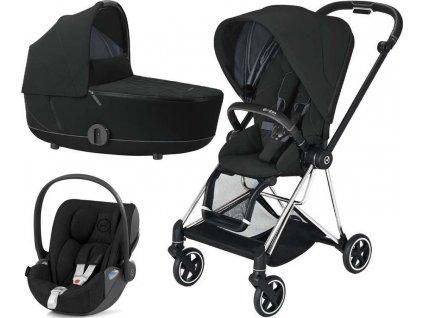 Kočárek CYBEX Set Mios Chrome Black Seat Pack 2021 včetně Cloud Z i-Size - Deep Black