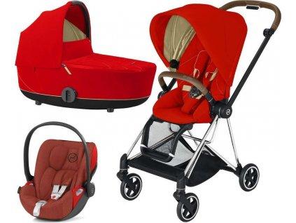 Kočárek CYBEX Set Mios Chrome Brown Seat Pack 2021 včetně Cloud Z i-Size - Autumn Gold