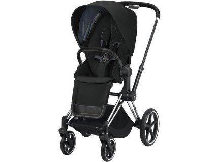 Kočárek CYBEX Priam Chrome Black Seat Pack 2021 - Deep Black