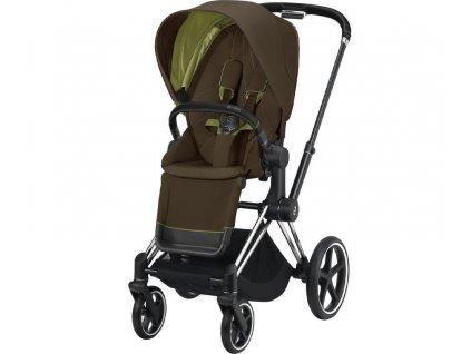 Kočárek CYBEX Priam Chrome Black Seat Pack 2021 - Khaki Green