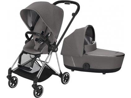 Kočárek CYBEX Mios Chrome Black Seat Pack 2021 včetně korby - Manhattan Grey