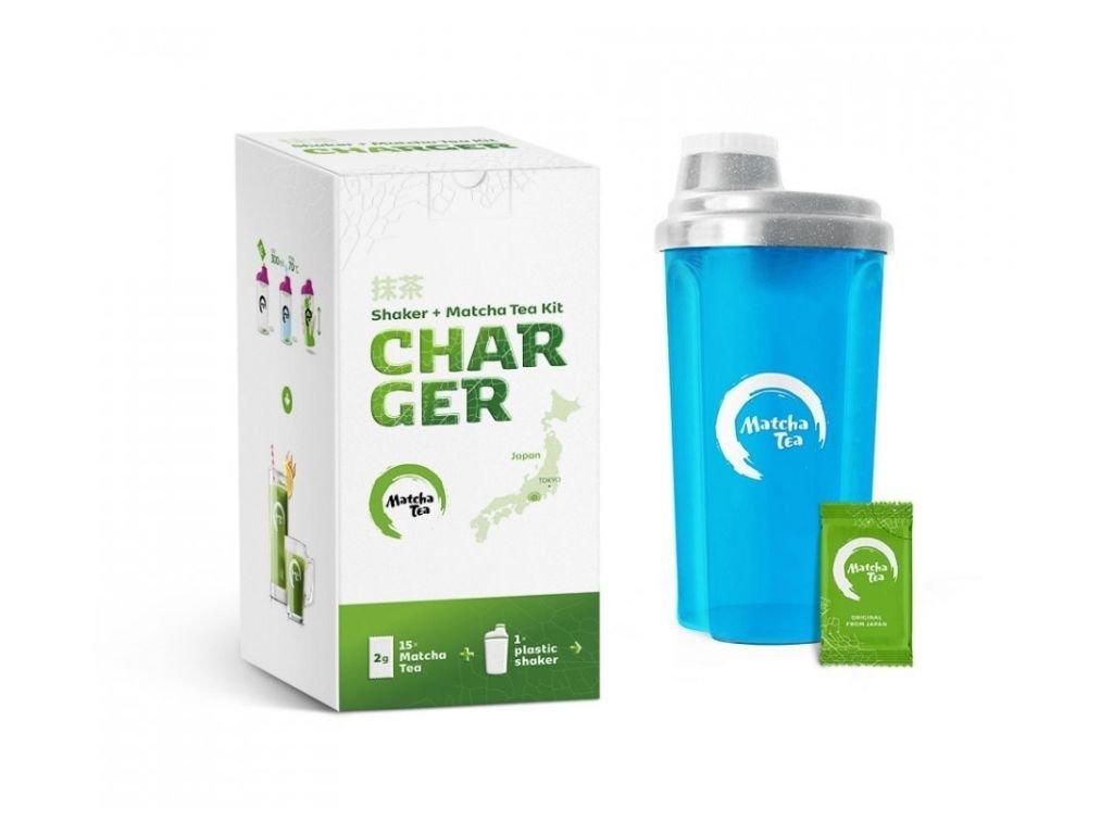 Bio Matcha Tea Charger Modrá