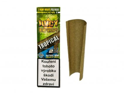 Juicy Jay's Konopné Blunty Tropical passion, 2ks